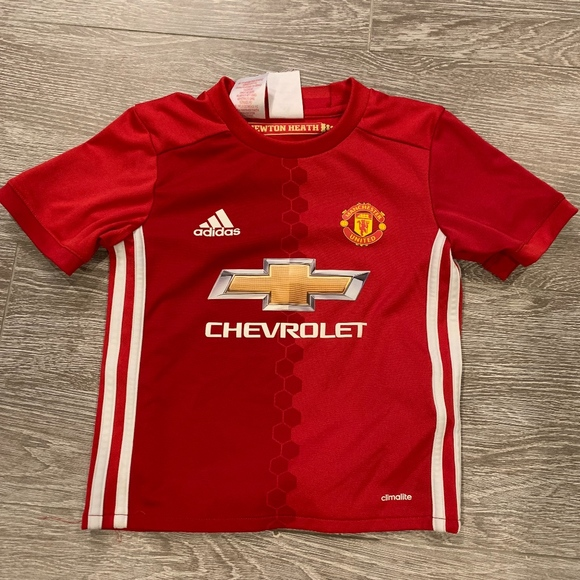 56e46cdec Adidas Shirts & Tops | Youth Manchester United Soccer Jersey 5t ...
